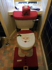 Even the toilet is festive!