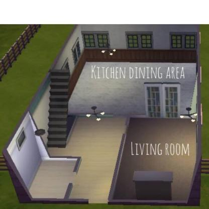 Option 1 has separate kitchen, living room, and dining room. Option 2 has open plan kitchen-dining.